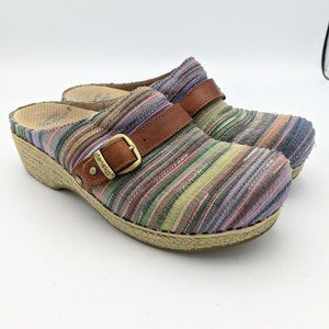Dansko Clogs Shoes Slides Multicolor Stripes